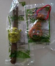 2010 Shrek Forever After McDonalds Toy Watch - Shrek #1 & Gingy #2 Sealed Nip