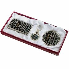 Business card holder ID case Makeup compact mirror keychain ring gift set #93