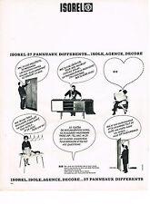 PUBLICITE ADVERTISING  1963   ISOREL   panneaux bois