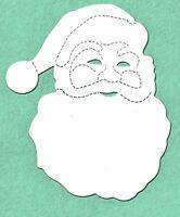 12 Die cut crosscut Santa Claus #2 head father christmas card making 9.5x8.5cm