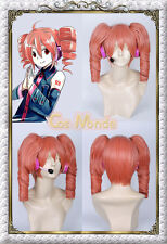 Japan Anime Vocaloid Kasane Teto Cosplay Light Red Wig + Gift(Coif)