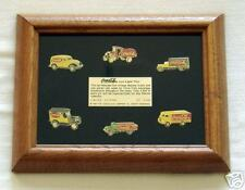 Coca-Cola Pins Collector's Frame - Trucks - Limited Ed.