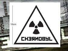 Chernobyl 10cm Radiation logo sign Vinyl Sticker Decal for Car Laptop Wall