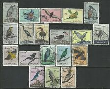Angola 1951 - Birds x 19 stamps used