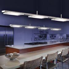 Lampada a sospensione LED 4 spot cucina salone design moderno nickel nuova 67359