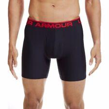 """UA Under Armour Men's Original 6"""" Boxerjock Black Briefs NWT NEW Size L"""