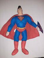 "1998 DC Comics 13"" Superman Plush figure Vinyl Head RARE EXCELLENT cond. W/TAG"