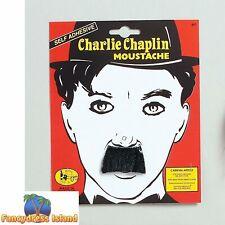 20's FAKE CHARLIE CHAPLIN STYLE MOUSTACHE Mens Fancy Dress Costume Accessory