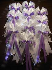 10 Antennenschleifen, Autoschleifen, Deko Hochzeit, Dekoration Hochzeit