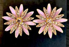 Nwt! New$39.50 Iced Orchid J.Crew PavÉ Daisy Stud Earrings!