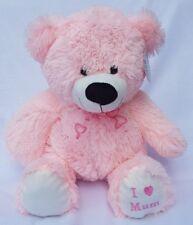 """GRANDE orsacchiotto rosa morbido peluche giocattolo 18"""" I Love Mum"""