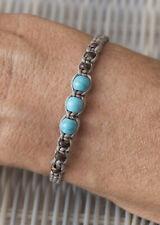 Bracelet brésilien amitié gris perles bleu turquoise et bois Surfer - 21169 -FS9