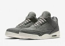 2016 Nike Air Jordan 3 III Retro Wool SZ 9.5 Dark Grey Sail Cement OG 854263-004