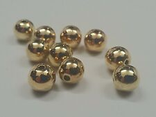 CCB Style Acrylic Beads, Round, Golden, Qty 20 - 8mm, Hole: 1.5mm