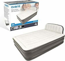 AirBed Air Bed + Headboard Electric Pump Queen Size Double Inflatable Mattress