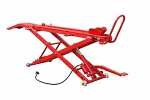 Motorcycle Lift Air Hydraulic & Manual 454 kgs Motorbike Lifter Stand Table