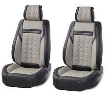 DELUXE 1+1grey nero similpelle copri sedili anteriori CUSCINETTO PER SEAT FIAT