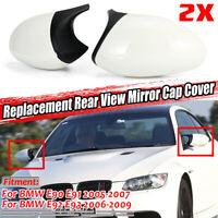 Per BMW E90 E91 E92 E93 Pre-lci M3 Stile Lato Specchio Cover Lucido Bianco 2PCS