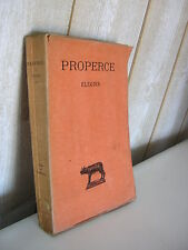 PROPERCE / ELEGIES  Collection Budé