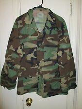 Pre-Owned BDU-Woodland Camouflage Hot Weather Combat Uniform Coat! Size Med-Reg.