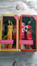 Barbie collector dolls of the world India and China barbies New in Box