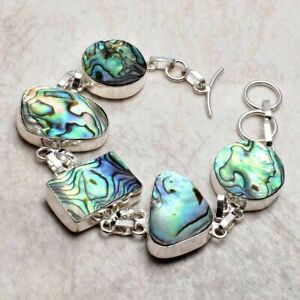Abalone Shell Ethnic Handmade Bracelet Jewelry 27 Gms AB 30572