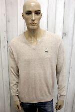 LACOSTE Maglione L Uomo Taglia 5 Casual Lana Sweater Pull Pullover Man Francia