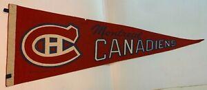 Vintage 1969 Montreal Canadiens Full Size Felt Pennant NHL