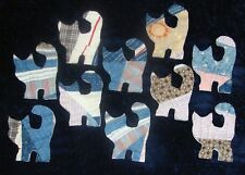 10 PRIMITIVE CUTTER QUILT CATS/KITTENS!! SO ADORABLE!