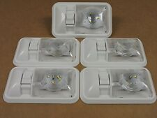 5 New RV Interior Led Ceiling Light Boat Camper Trailer Single Dome 12v  280LM