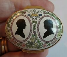 Halcyon Days 1981 Prince Charles and Lady Diana Enamel Box
