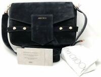 Jimmy Choo Lexie Black Suede Crossbody Women's Handbag - New!
