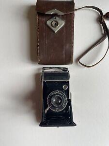 Voigtlander Bessa Vintage German Folding Camera With Leather Case