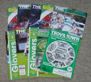 10 Yeovil Town Home Football Programmes – 1989-2008 – All Listed