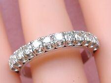 ESTATE .96ctw BRILLIANT DIAMOND PLATINUM HALF ETERNITY BAND RING SIZE 10.75!