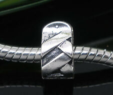 One Stopper Clip Lock Silver plated Charm Bead Fits European Charm Bracelet s65