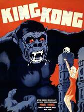 ADVERT MOVIE FILM HORROR KING KONG DANISH RELEASE ART PRINT POSTER BB7499