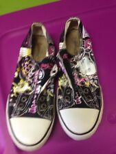 Ed Hardy black  No Lace  Slip On Graphic Sneaker Sz: 6 WOW!