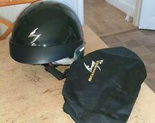 Scorpion Exo 100 Jet Casco de Motocicleta Visera De Sol media concha negro brillante Sm