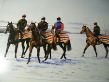 More details for horse racing * caroline cook 1999 print * work riders at the gallops otter house