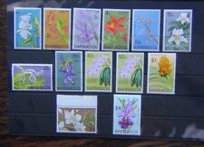 More details for barbados 1974 orchids values to $10 mnh