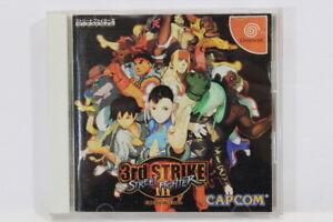 Street Fighter III 3 3rd Strike W Spine Reg SEGA Dreamcast DC Japan Import DC826