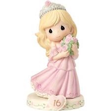 Precious Moments 162015 Growing In Grace, Age 16, Bisque Porcelain Figurine,