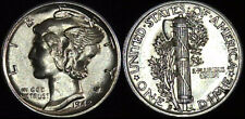 1942 S MERCURY HEAD DIME ***FULL BANDS*** AMAZING DEVICES