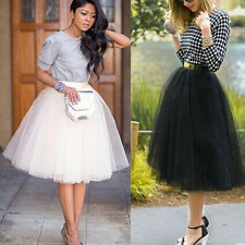 New Mini Womens Tulle Celebrity Skirts Adult Tutu Ball Gown Wedding Prom  Dress