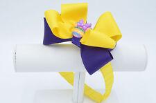 Custom Easter Headband, Yellow and Purple Headband, Yellow Bow, Purple Bow, East