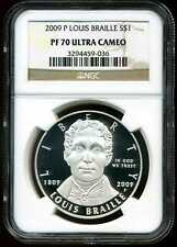 2009-P $1 Proof Braille Commemorative Silver Dollar PF70 UCAM NGC 3294459-036
