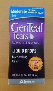 GENTEAL TEARS LUBRICANT LIQUID EYE DROPS MODERATE DRY EYE RELIEF 15ML