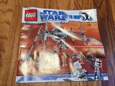 Star Wars Exclusive Limited Edition Lego Set #7681 INSTRUCTION MANUAL Only