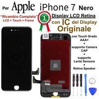 Display LCD Retina IC Originale con Touch Screen per Apple iPhone 7 Nero TIANMA